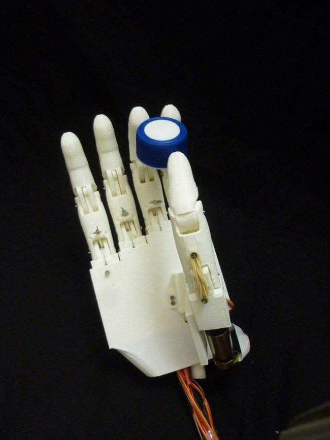 prosthetic hand holding