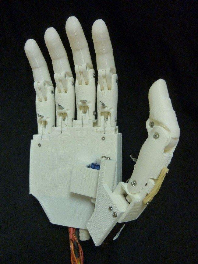 prosthetic hand open