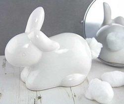 rabbit cotton ball dispenser