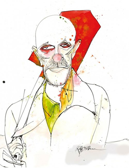 Ralph Steadman Draws The Cast Of Breaking Bad In A Unique Way