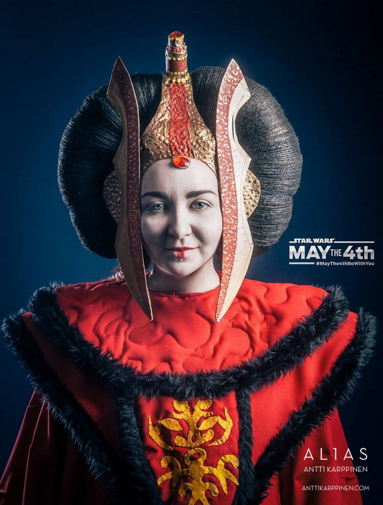 red star wars woman