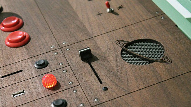 retro gaming cabinet buttons speaker