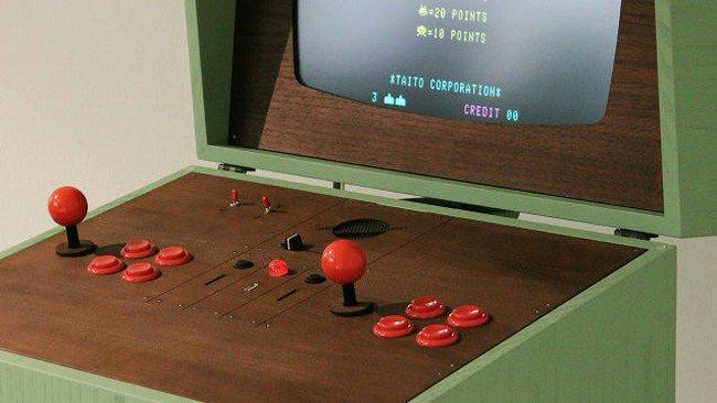 retro gaming cabinet screen top