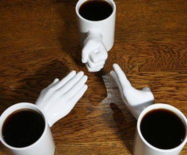 rock paper scissors mug set