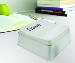 save button food tin