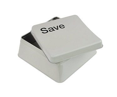 save button food tin box