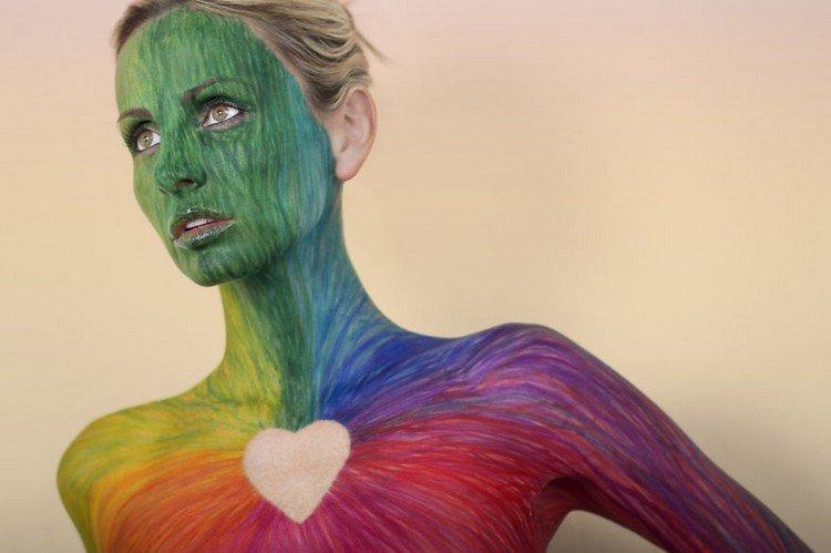 sharpie model colorful heart