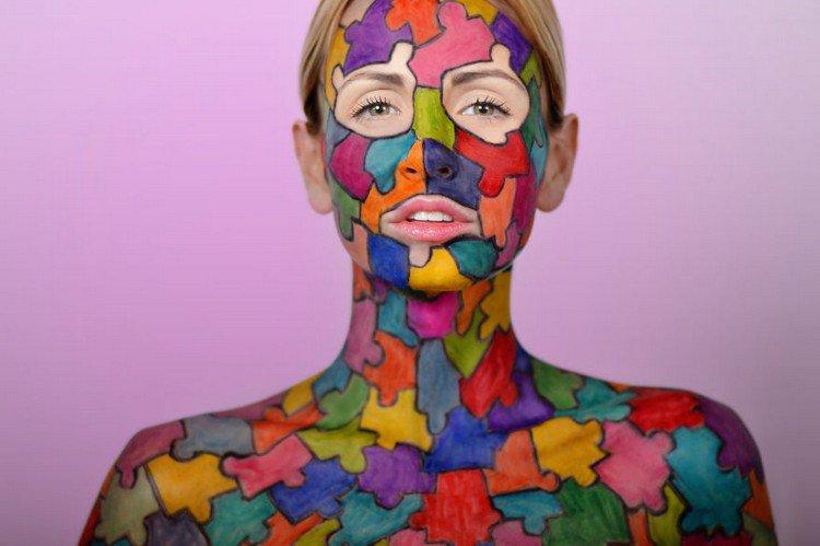 sharpie model colorful jigsaw