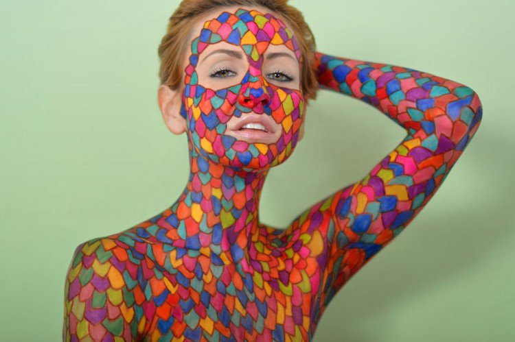 Amazing Colorful Sharpie Drawings On A Human Canvas Awesome Doodles Drawings