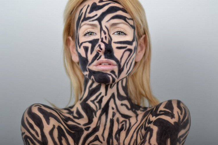 Amazing Colorful Sharpie Drawings On A Human Canvas