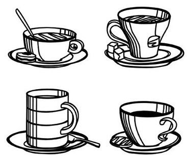 sketch coasters coffee