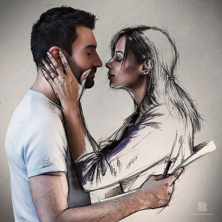 sketch-kiss