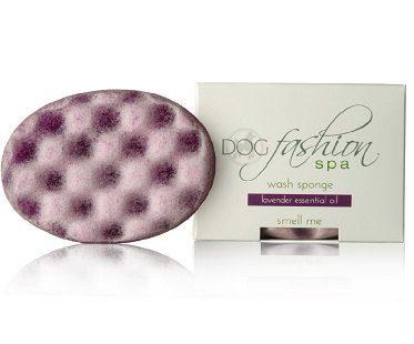 soap-infused dog wash sponge lavender box