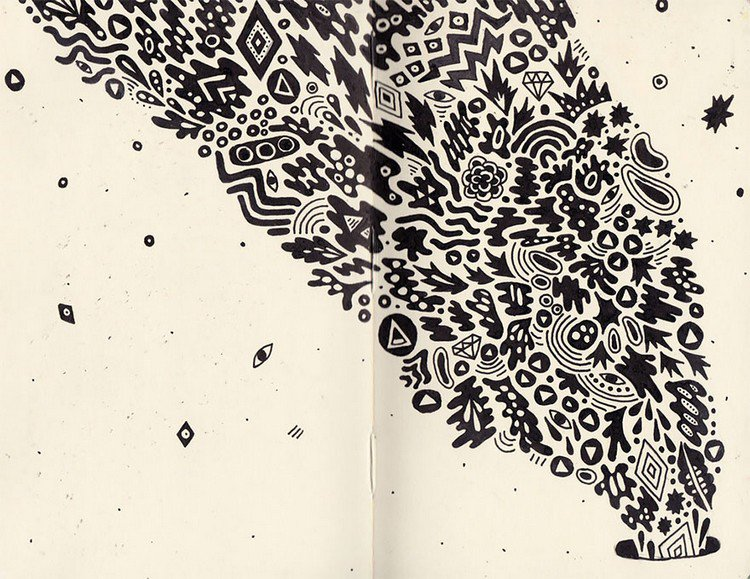 sophie roach black white drawing