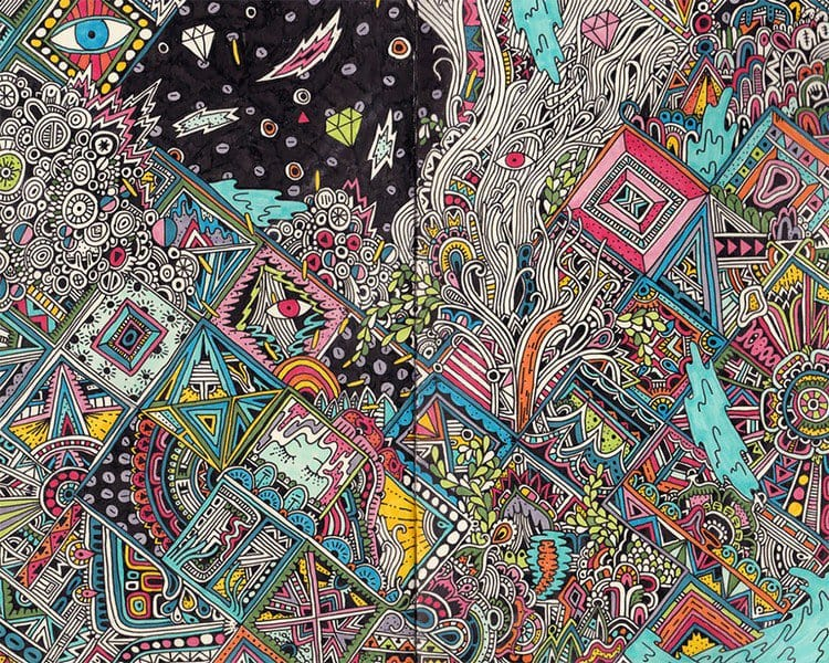 sophie roach colorful drawing angles