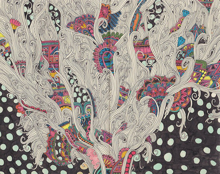 sophie roach colorful drawing dots lines