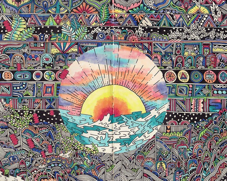 sophie roach colorful drawing sun