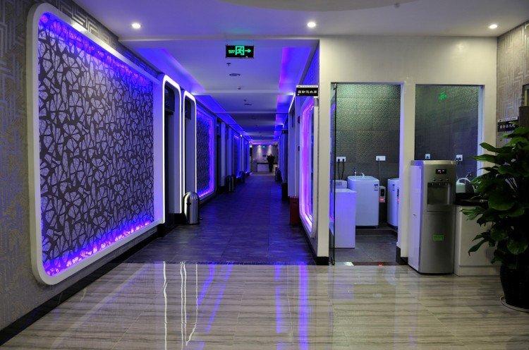 space hotel corridor