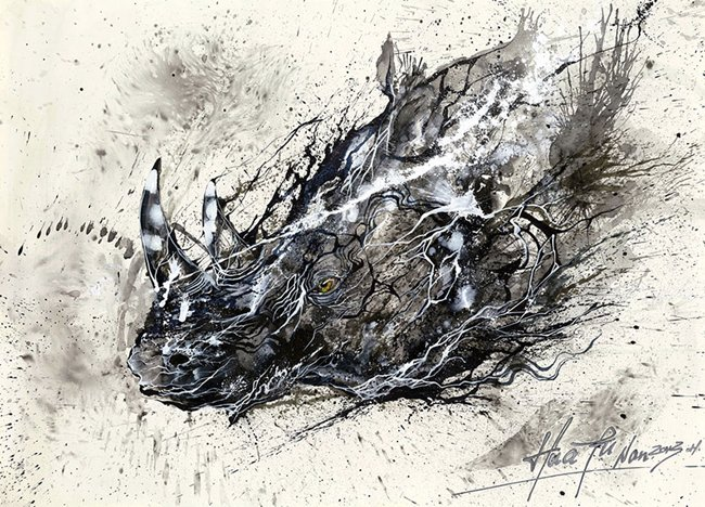 splatter-artist-hua-tunan-rhino