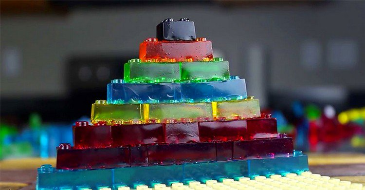 stacked lego gummies