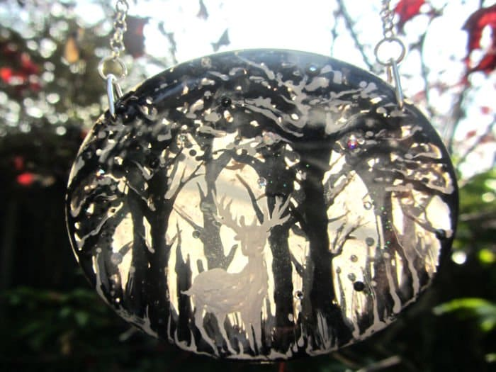 stag winter pendant