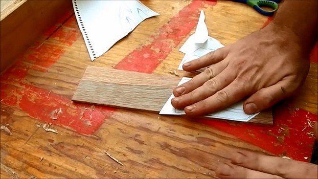 sticking paper wood