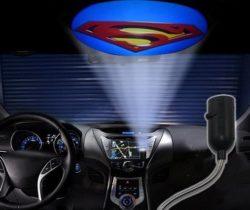 superman car projection light