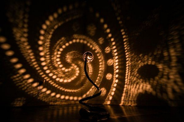 swirling pattern lamp