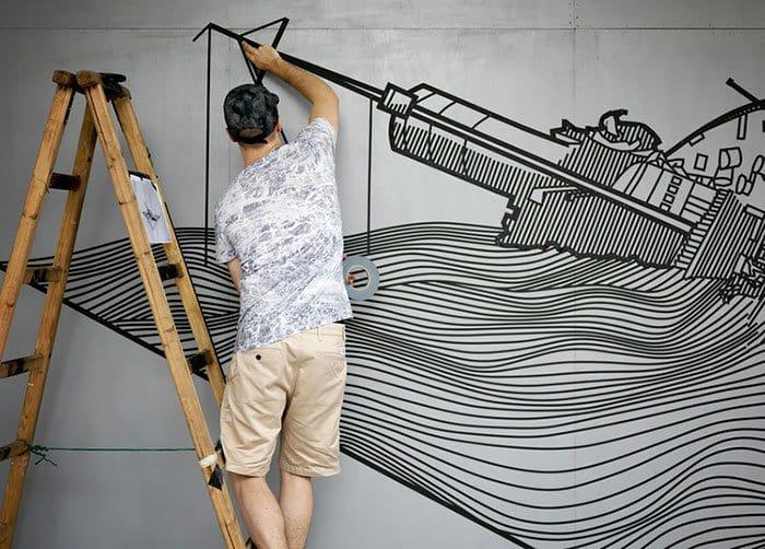tape-street-art-buff-diss-ladder