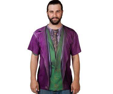 the joker costume t-shirt