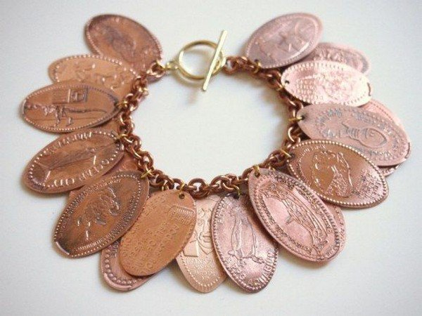 travel charm coin bracelet