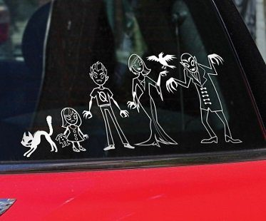 vampire family car decals