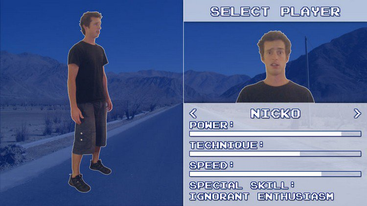 video game player select screen