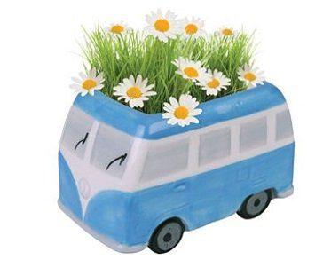 vw campervan flower pot