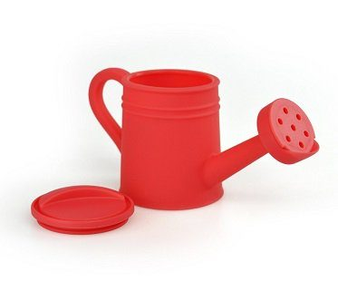 watering can dressing dispenser red