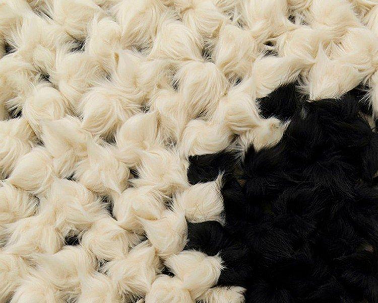 white black fur