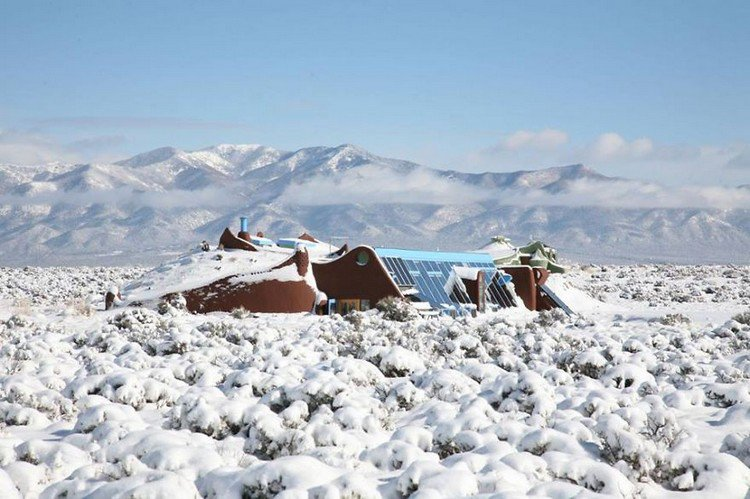 winter earthship