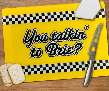 you talkin' to brie cheeseboard yellow