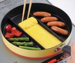 3-section frying pan