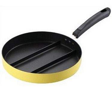 3-section frying pan nonstick