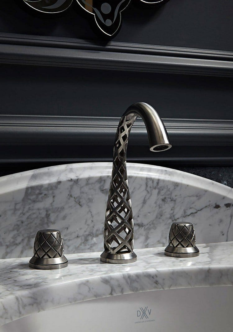 3D printed faucet metal lattice