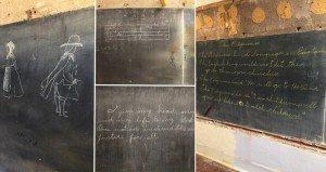 98 Year Old Chalkboard Drawings Oklahoma