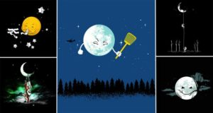 Artist Imagines The Adventures Of The Moon In Space