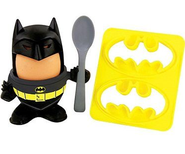 Batman Egg Cup and Toast Cutter yellow
