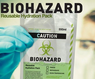 Biohazard Drink Pouch reusable