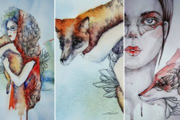 Bizarre And Beautiful Fox Illustrations