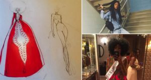 Bullied Girl Designs Beautiful Prom Dress