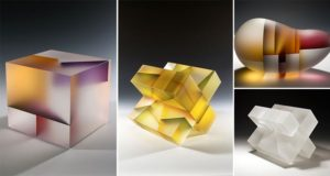 Cell Division Translucent Glass Sculptures