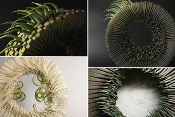 Ceramic Sculptures Look Like Sprouting Blades Of Grass