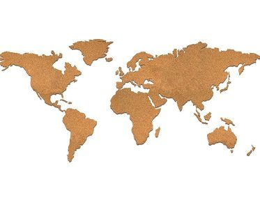 Cork Board World Map travel
